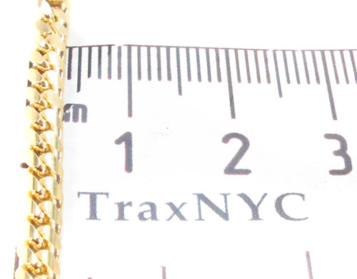 14K Yellow Gold Cuban Chain 24 Inches, 4mm, 28.1 Grams Gold