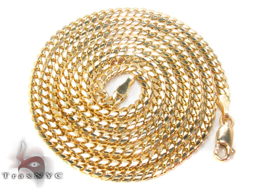 14K Yellow Gold Cuban Chain 26 Inches, 3mm, 21.7 Grams Gold