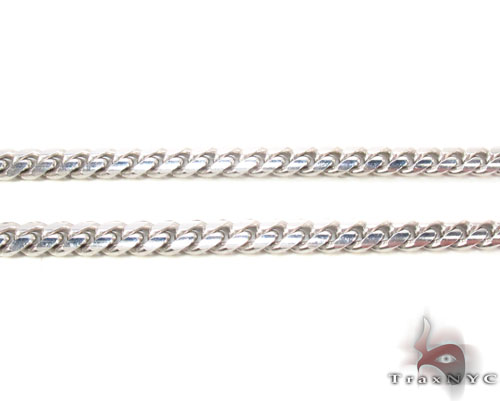 14K White Gold Cuban Chain 30 Inches, 4mm, 35.3 Grams Gold