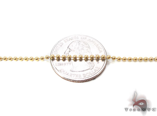 14K Yellow Gold Ball Link Chain 22 Inches, 2mm, 6.20 Grams Gold