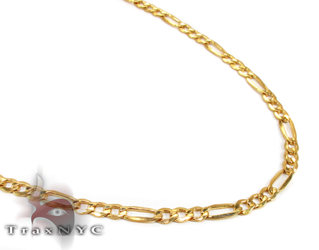 14K Yellow Gold Figaro Chain 24 Inches 4.5mm 13.3 Grams Gold
