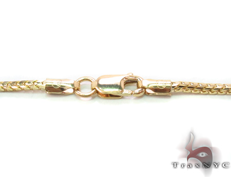 14K Yellow Gold Franco Chain 16 Inches, 1.5mm, 5.77Grams Gold