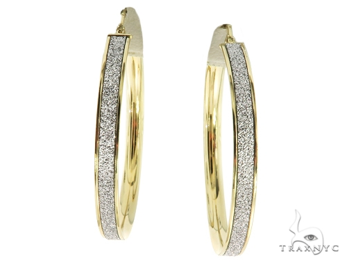 14K Yellow Gold Hoop Earrings 56924 10k, 14k, 18k Gold Earrings