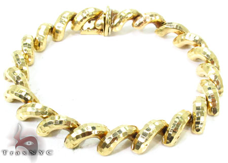 14K Matte Yellow Gold Sain Marco Bracelet Gold
