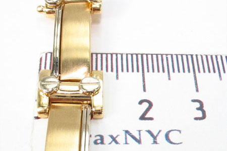 14K Yellow Gold Screw Bar Bracelet Gold