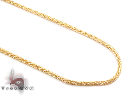 14K Yellow Gold Thin Chain 18 Inches 1mm 2.6 Grams Gold