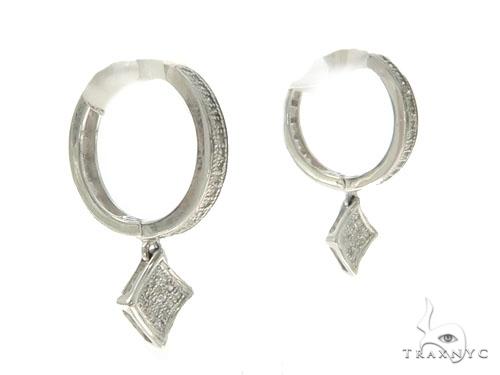 14KW Diamond Hoop Earrings 57309 Stone