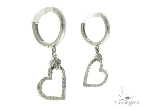 14KW Heart Diamond Earrings 57308 Stone
