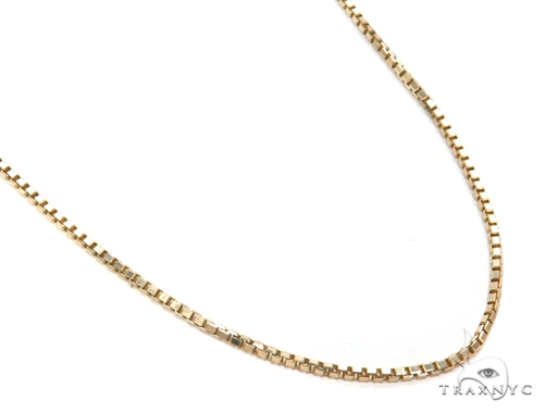 14k Beveled Box Gold Chain 18 Inches 1mm 4.2 Grams 40787 Gold