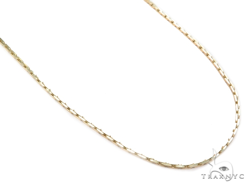 14k Boston Link Gold Chain 22 Inches 1mm 8 Grams 40791 Gold