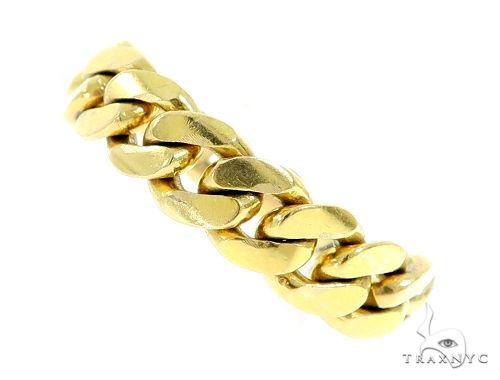 14k Gold 8.5mm Miami Cuban Link Ring 63913 Metal