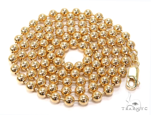 14k Gold Ball Chain 22 Inches 4mm 27.5 Grams 40785 Gold