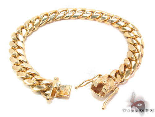 14k Gold Cuban Bracelet 34627 Gold