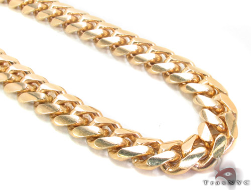 14k Gold Cuban Chain 26 Inches 10mm Mens Gold Yellow Gold 14k