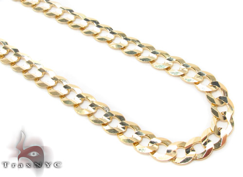 14k Gold Curb Chain 20 Inches 4.5mm 10.6 Grams Gold