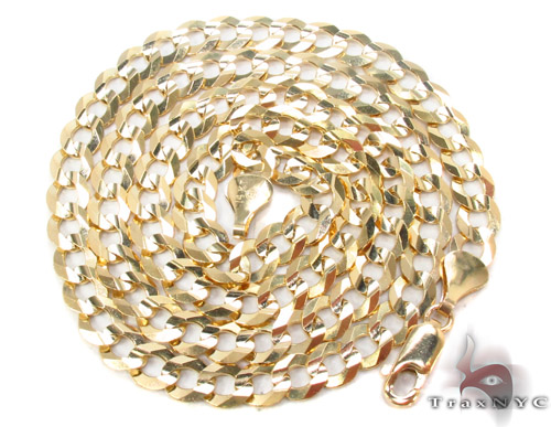 14k Gold Curb Chain 20 Inches 5.5mm 17.1 Grams Gold