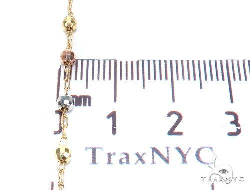 14k Gold Rosary Chain 30 Inches 3mm 7 Grams 43023 Gold