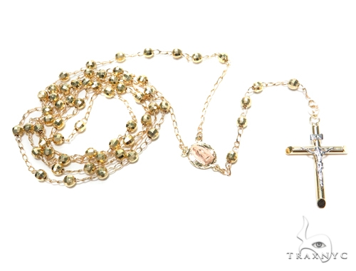 14k Gold Rosary Chain 30 Inches 4mm 11.3 Grams 43024 Gold