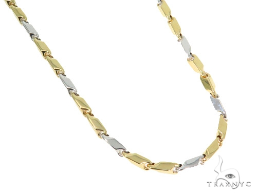 14k Yellow Bullet Gold Chain 24 Inches 5mm 29.7Grams 44352 Gold