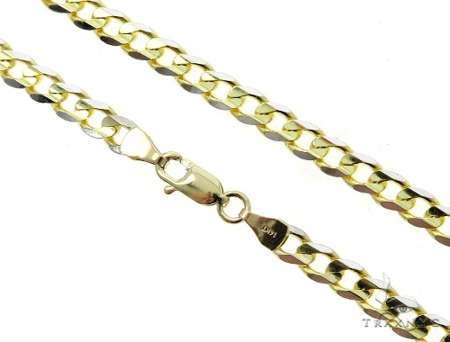 14k Yellow Gold Cuban/Curb Chain 28 Inches 4.5mm 26.3 Grams 49516 Gold