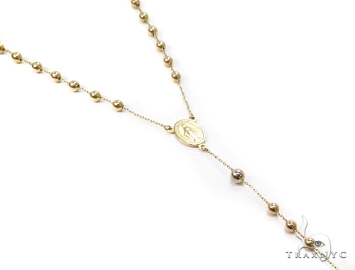 14k Yellow Gold Gold Rosary Chain-39970 Gold