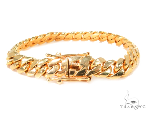 14k Yellow Gold Miami Cuban Gold Bracelet 44497 Gold