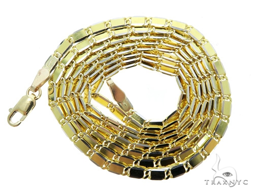 14k Yellow Gold Mirror Chain 24 Inches 2.5mm 10.15 Grams 49564 Gold