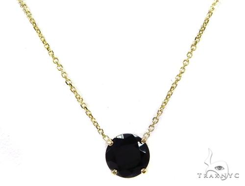 14k Yellow Gold Onyx Necklace 40017 Gemstone