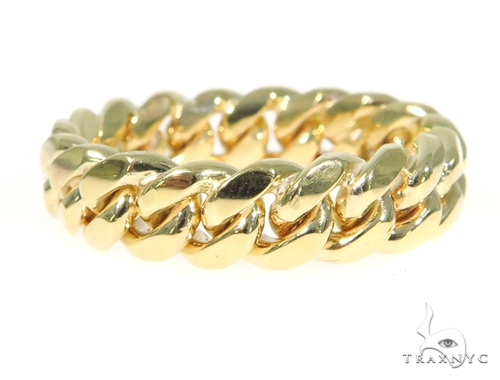 14k Gold 6.5mm Miami Cuban Link Ring 45420 Metal