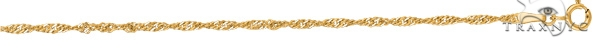 14kt 16 Inches Yellow Gold 1.7mm Diamond Cut Singapore Chain Gold