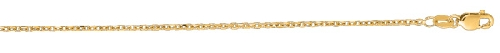 14kt 16 Inches Yellow Gold 1.5mm Diamond Cut Cable Link Chain Gold