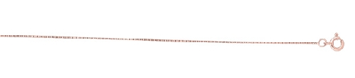 14kt 18 Inches Rose Gold 0.45mm Shiny Classic Box Chain 44978 Gold