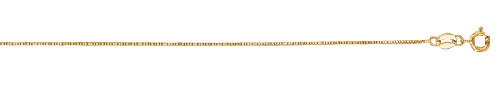 14kt 18 Inches Yellow Gold 0.6mm Shiny Classic Box Chain Gold