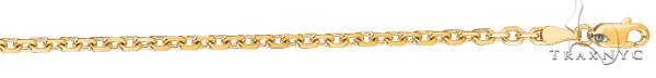 14kt 22 Inches Yellow Gold 3.1mm Diamond Cut Cable Link Chain Gold