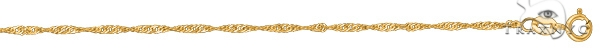 14kt 24 Inches Yellow Gold 1.5mm Diamond Cut Singapore Chain Gold