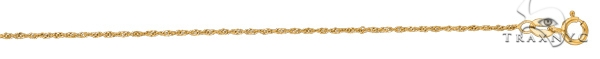 14kt 7 Inches Yellow Gold 1.0mm Diamond Cut Singapore Chain Gold