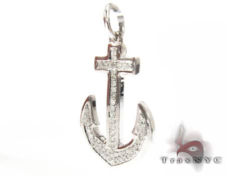 Diamond Anchor Pendant Stone