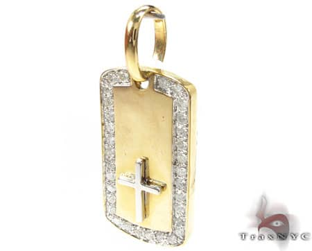 YG Crucifix Dog Tag Metal