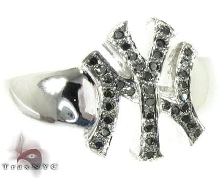 WG Black Diamond Yankees Ring Stone