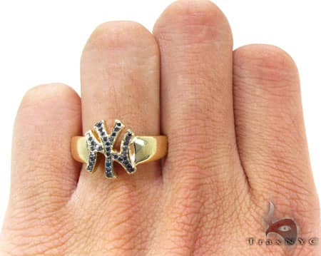 YG Black Diamond Yankees Ring Stone