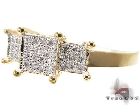 14K Yellow Gold Diamond Lola Ring Engagement