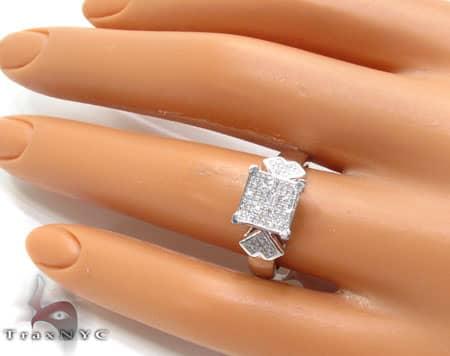 WG White Diamond Ring Anniversary/Fashion