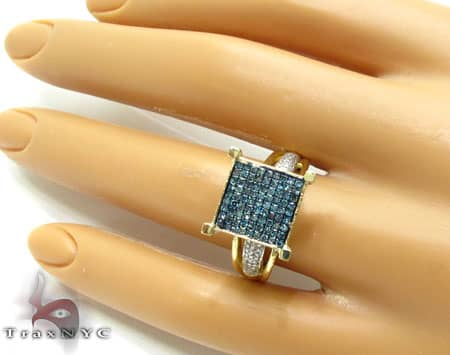 Blue Diamond Park Ring Anniversary/Fashion