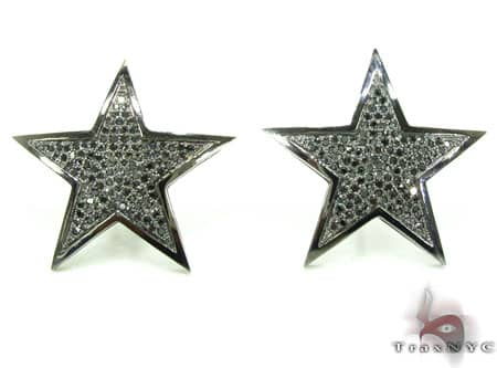 Black Diamond Micro-Pave Star Earring Stone