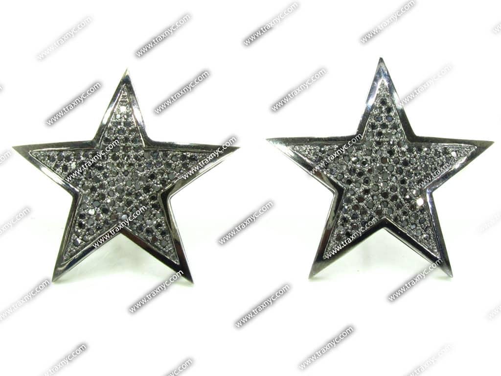 black diamond micropave star earring 15656