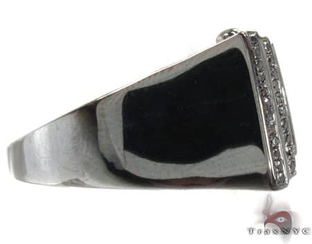 BG Black Diamond Bowtie Ring Stone