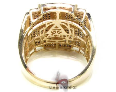 YG Canary Cross Ring Stone
