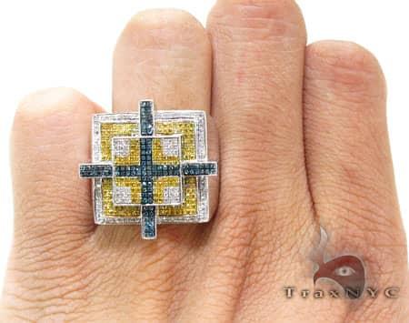Blue Cross Ring Stone