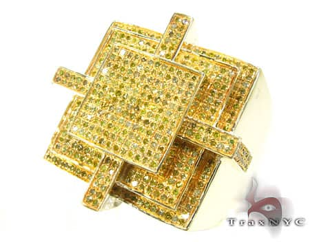 Canary Cross Ring Stone