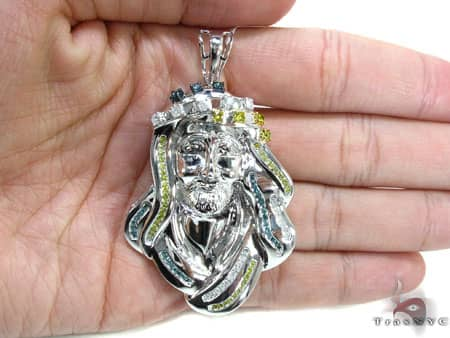 Tri-Color Jesus Pendant Metal
